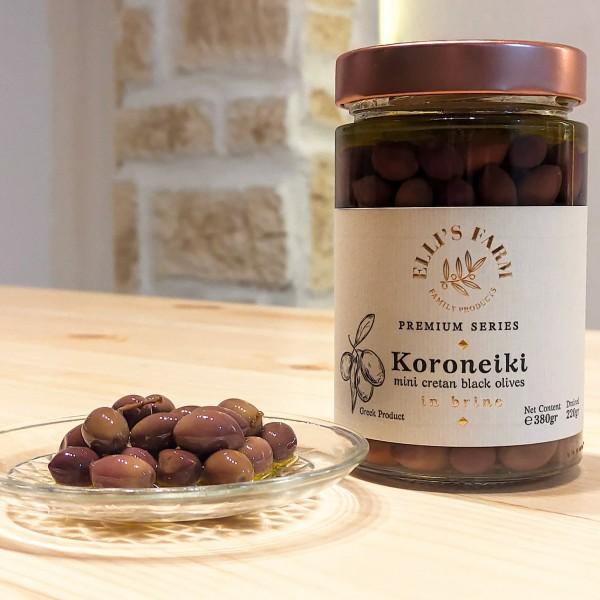Koroneiki Mini Cretan Oliven Premium Qualität, 380 g