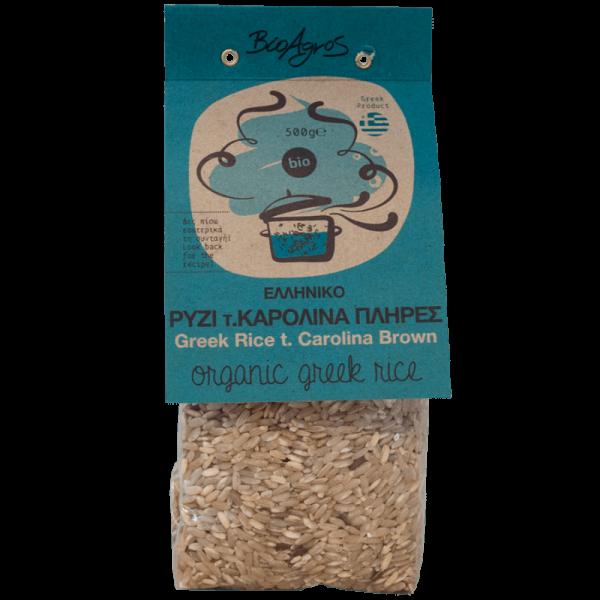 Griechischer Bio-Premium brauner Carolina Reis, 500 g