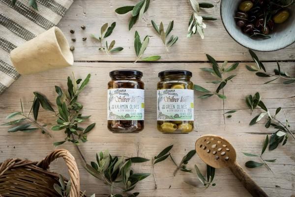 Kalamon Oliven in Extra Nativem Olivenöl mit Stein, 300 g