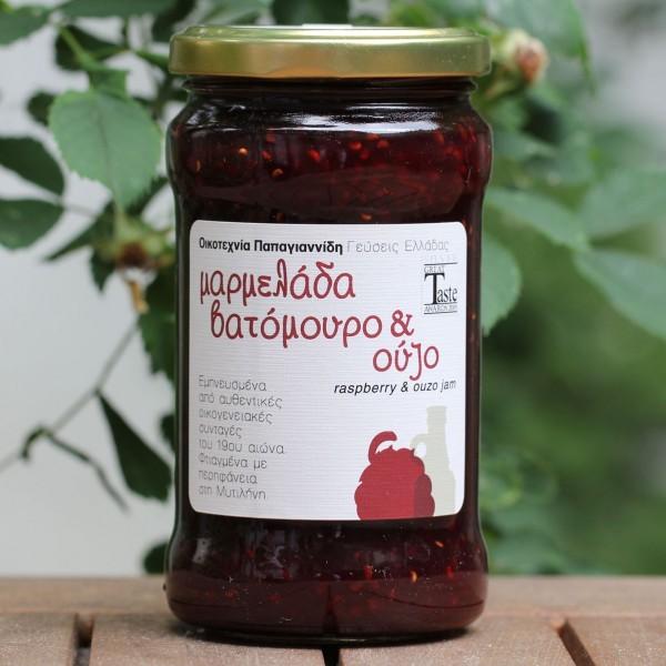 Hausgemachte Marmelade mit Himbeer und Ouzo, 380 g