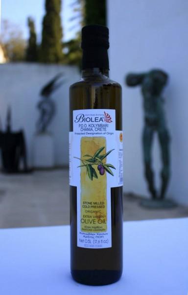 Biolea Bio Premium Olivenöl aus Kreta, steingemahlen, 500 ml