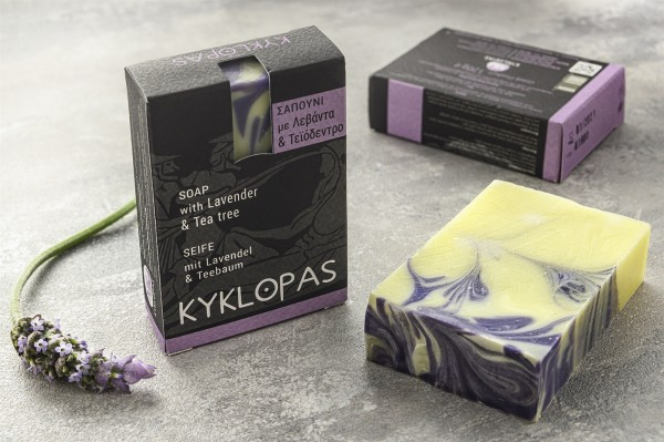 Handgemachte Olivenölseife mit Lavendel & Teebaum, 120 g