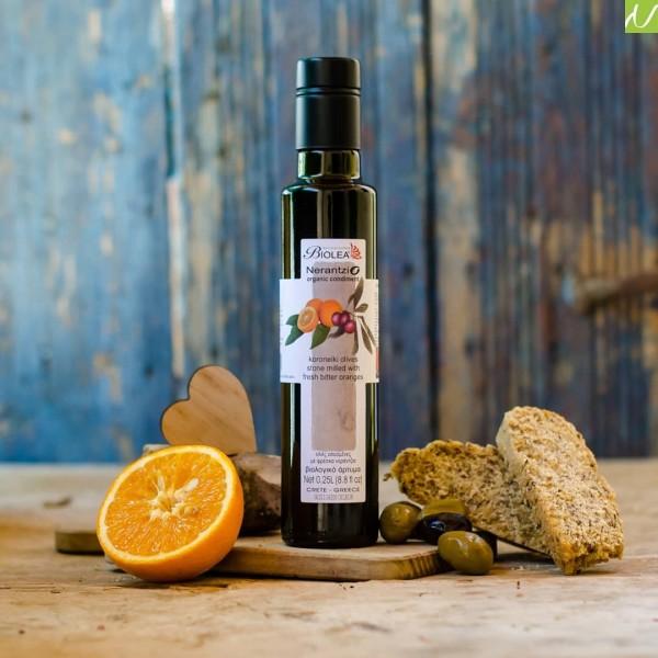 Biolea Nerantzio Bio Olivenöl mit Bio-Bitterorangen 250 ml