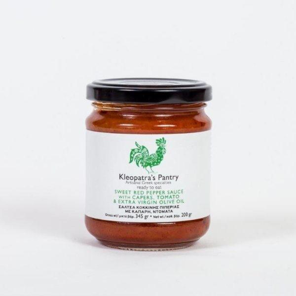 Rote Paprika Sauce mit Kapern und Olivenöl, 200 g