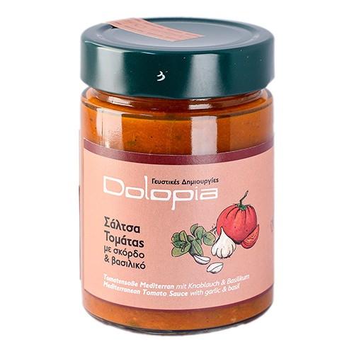 Tomatensauce Mediterran mit Basilikum und Knoblauch, 350 g