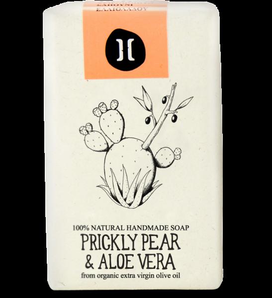 Bio Olivenölseife aus Kreta Kaktusfeige & Aloe Vera, 120 g