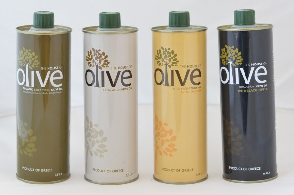 The House Of Olive, Premium Olivenöle Manaki Alle Sorten-Neue Ernte, 4 x 500 ml