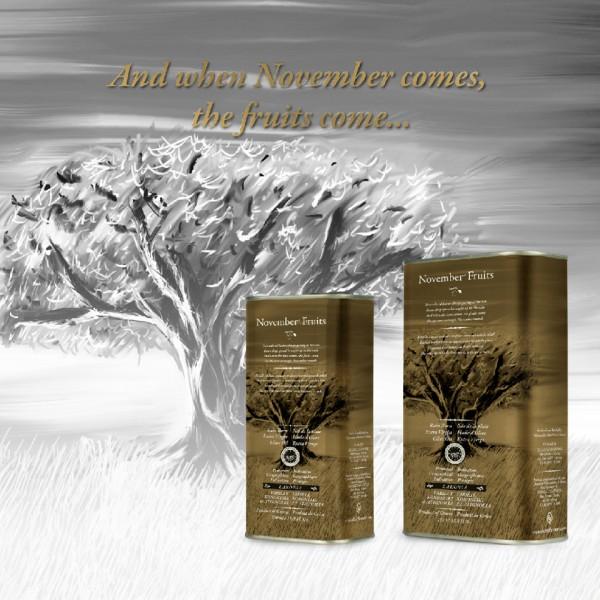 November Fruits Premium Olivenöl PGI Laconia, 1,5 Liter