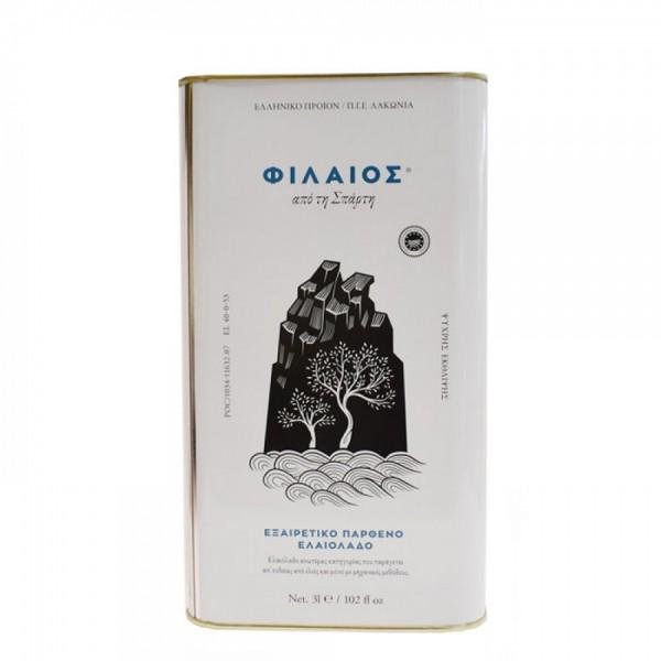 Phileos Premium Olivenöl aus Sparta, 3 Liter
