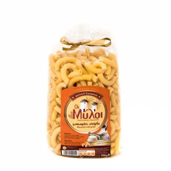 Traditionelle Pasta Makkaroni mit Knoblauch, 500 g