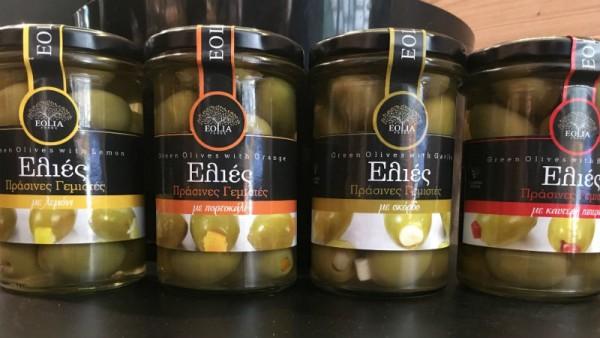 Grüne Oliven mit Knoblauch gefüllt, 300 g