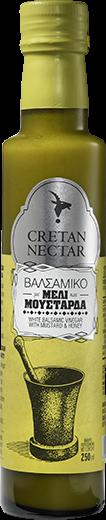 Cretan Nectar Balsamico Essig mit Honig & Senf, 250 ml