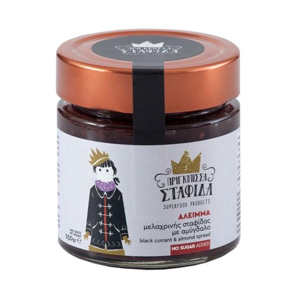Schwarze Rosinen mit Mandeln Aufstrich, 250 g
