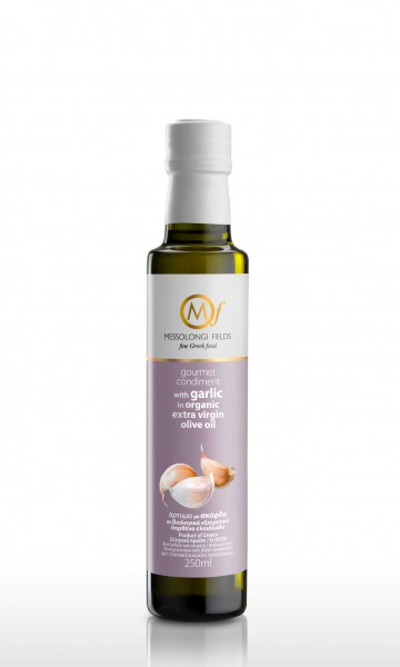 Messolongi Gourmet Knoblauch Olivenöl, 250 ml