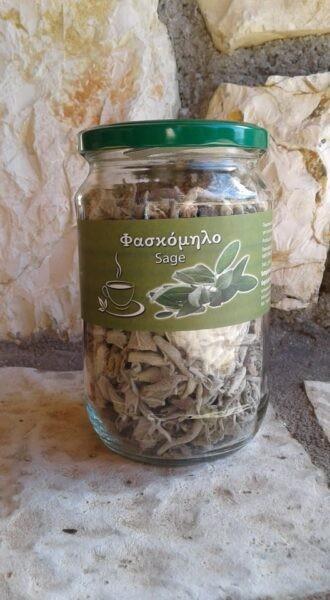 Griechischer Salbei (Φασκόμηλο) aus Arkadien, 60 g Glas