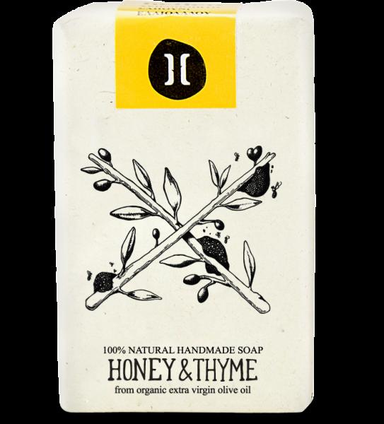 Bio Olivenölseife aus Kreta Honig & Thymian, 120 g