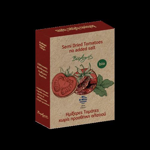 Halbgetrocknete griechische Bio Tomaten, 150 g