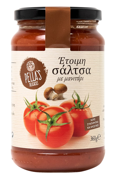 Tomaten Sauce mit Pilzen, ready-to-serve, 360 g