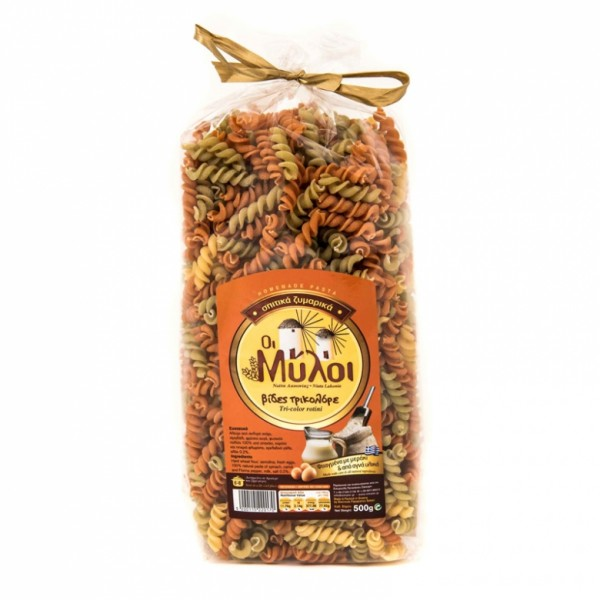 Traditionelle Pasta Tricolor Fusilli, 500 g
