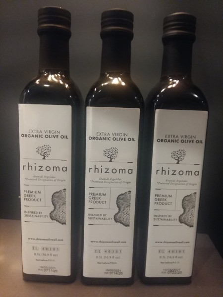 """Rhizoma"" Bio Premium Olivenöl PDO 3 Flaschen, 1,5L."