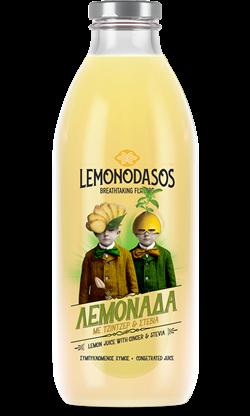 """""""Lemonodasos"""" Konzentrierter Zitronenfruchtsaft mit Ingwer und Stevia, 1 Liter"""