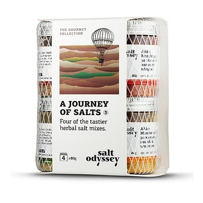'Salt Odyssey' A Journey of Salts, Kräutersalzmischungen, 4x80 g