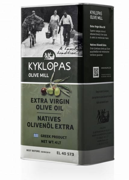 Kyklopas Extra Natives Olivenöl, 4 Liter
