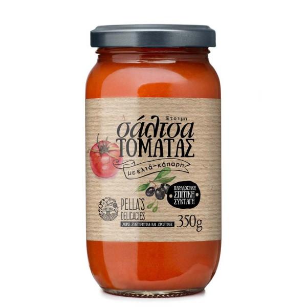 Tomaten Sauce mit Oliven & Kapern, ready-to-serve, 360 g