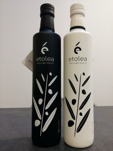 Etolea Black and White Premium Olivenöl Frühe Ernte, 2 x 500 ml