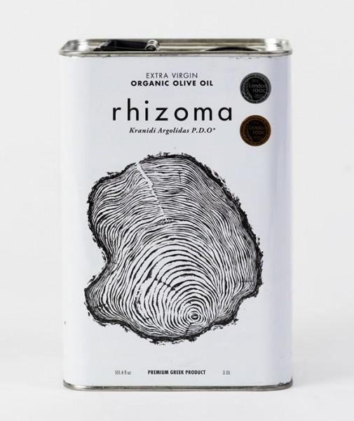 Rhizoma Bio Premium Olivenöl PDO, 3 Liter