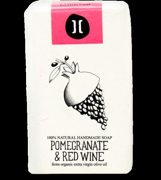 Bio Olivenölseife aus Kreta mit Granatapfel & Rotwein, 120 g