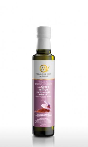 Messolongi Gourmet Safran Olivenöl, 250 ml