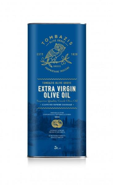 """""""Tombazis"""" Premium Olivenöl Frühe Ernte 2020/21, 5 Liter"""