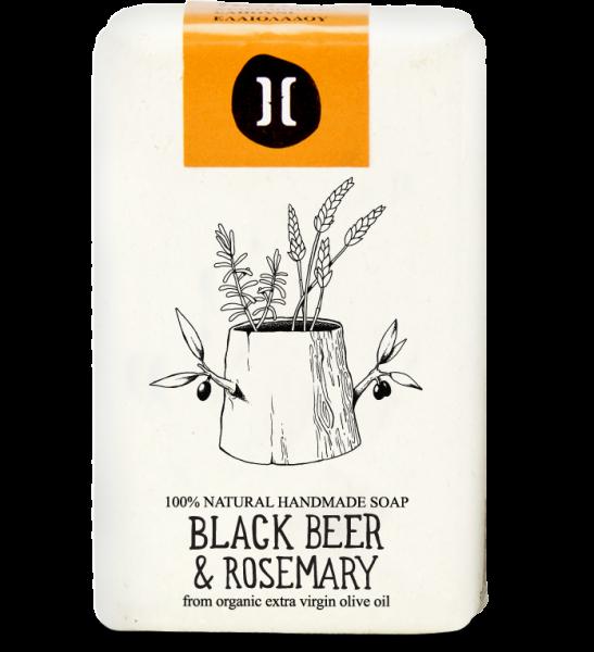 Bio Olivenölseife aus Kreta Schwarzbier & Rosmarin, 120 g