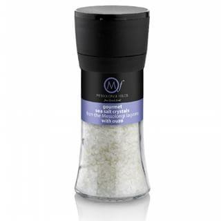 Messolongi Meersalz mit Ouzo, 95g Salzmühle