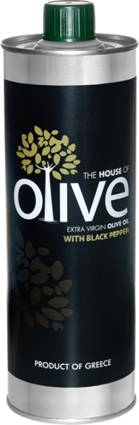 The House Of Olive, Natives Olivenöl Extra mit Schwarzem Pfeffer, 500 ml