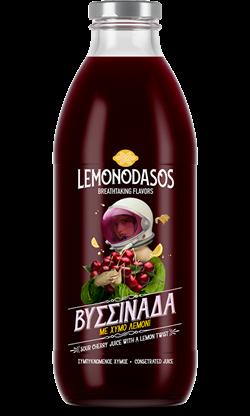 """""""Lemonodasos"""" Konzentrierter Sauerkirschfruchtsaft Vissinada mit Zitronensaft, 1 Liter"""