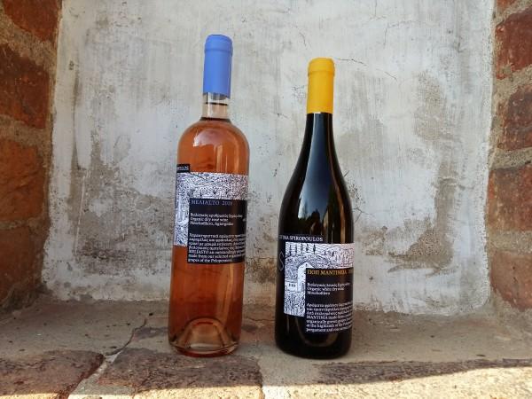 2018 Ktima Spiropoulos Bio Mantinia weiß & Meliastó rosé , 2 x 0,75 L