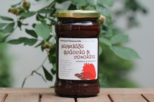 Erdbeer-Konfitüre mit Schokolade